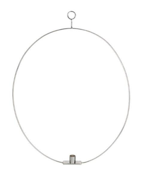 Ljusring med två krokar Oval
